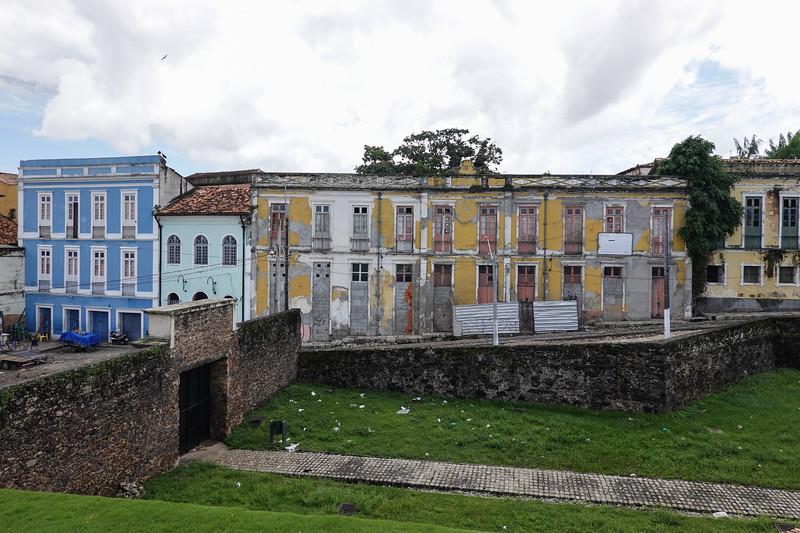 Streets of Belen from Forte do Presepio, Belen, Brazil.