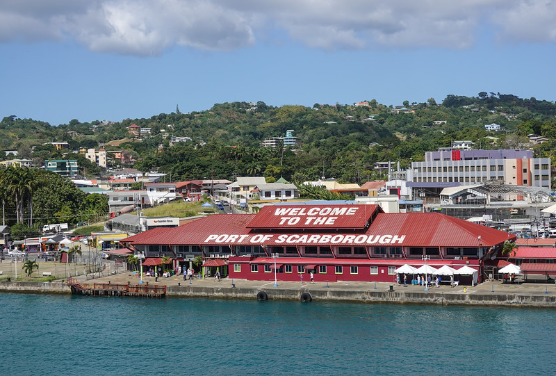 Welcome to the Port of Scarborough, Tobago.