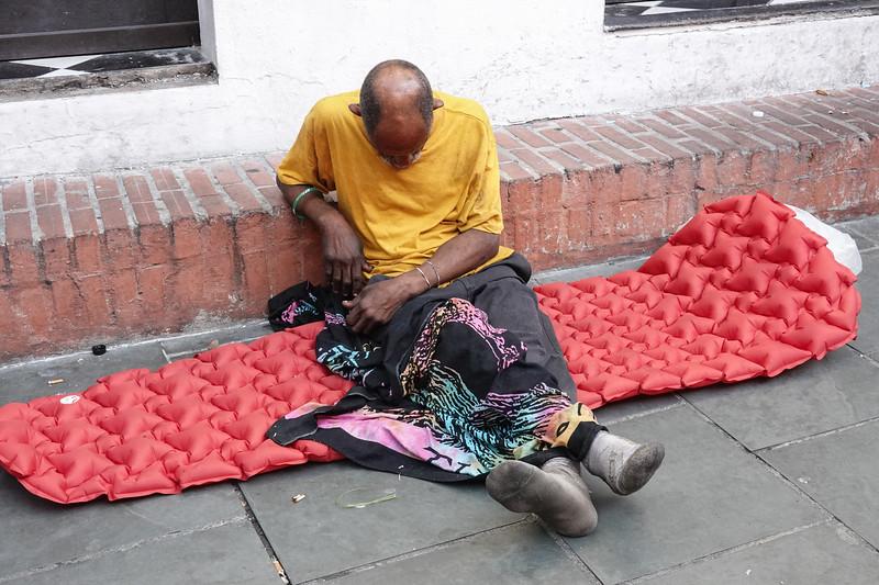 Street life and tough times in downtown San Juan, PR.