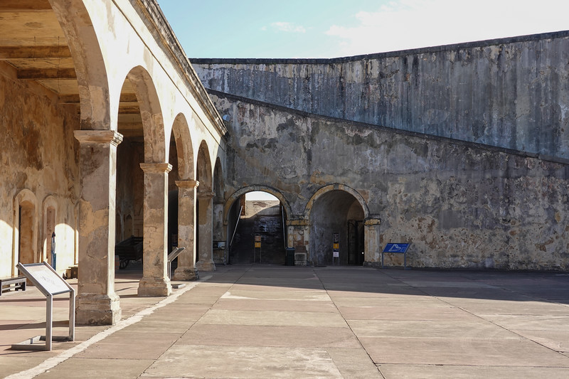 Inside old San Juan's fortress Castillo San Cristobal.