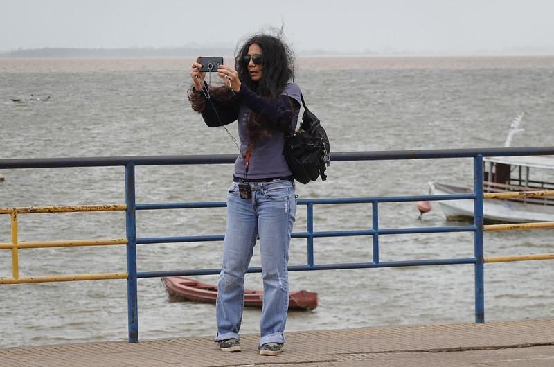 Pla shooting videos in Santarem, Brazil.