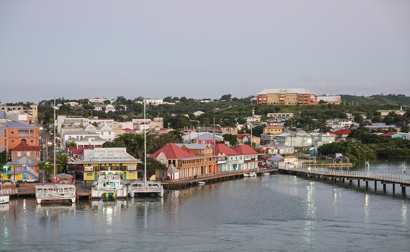 Late afternoon view of St. John's waterfront, Antigua.