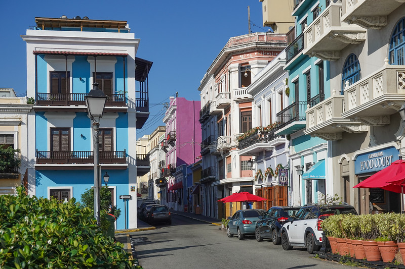 Colorful streets of Old San Juan, PR.