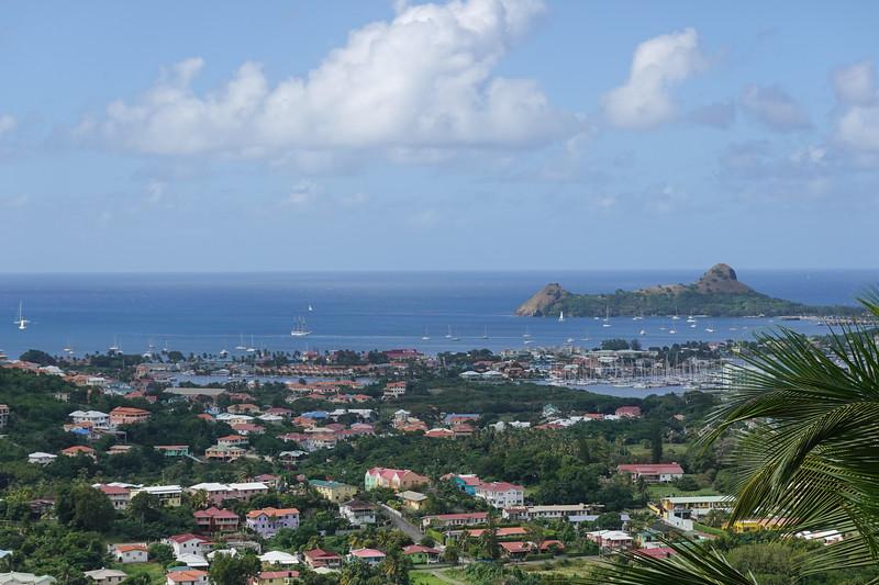 The harbor in Castries, Saint Lucia.
