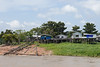 Amazon stilt village outside Manaus with homes that show signs of previous floods.