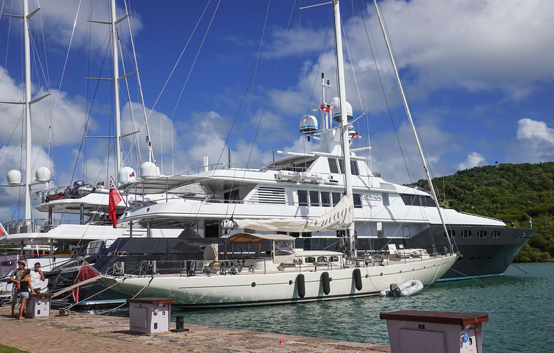 Bigger toys for the richer boys at Nelson's Dockyard, Saint John's, Antigua.