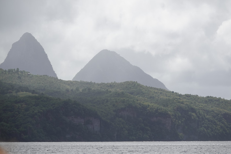 Then the rains came while out whale hunting from Castries, St. Lucia.