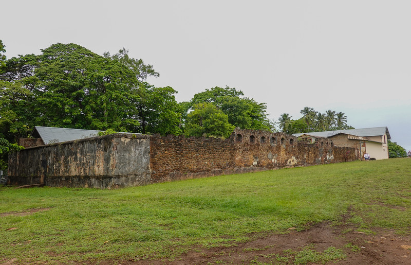Outer wall of one of the prisoner compounds on Ile Royale.