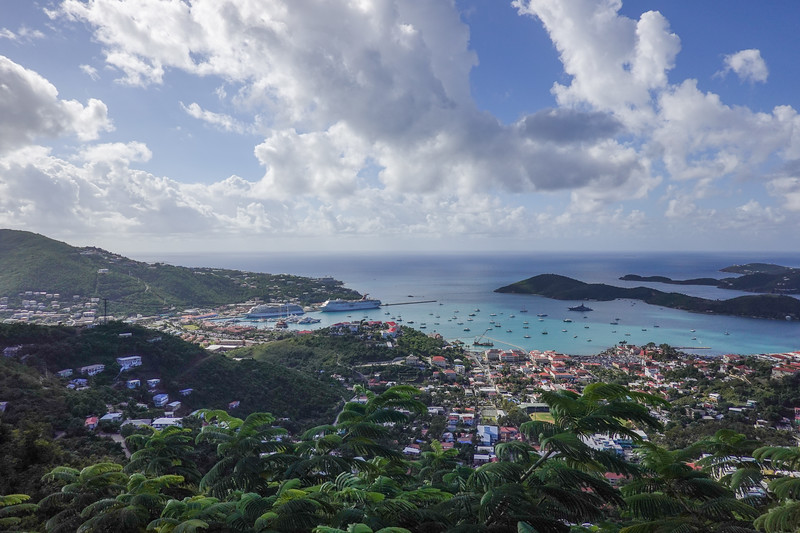 Scenic view of the Viking Sea from the St. Thomas mountains.