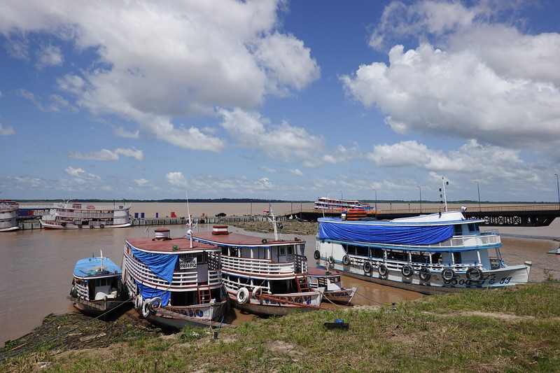 Waterfront in Parintins, Brazil.
