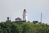 Lighthouse near the harbor entrance. Castries, Saint Lucia.