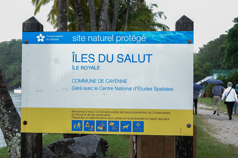 Arriving on Ile Royale of the Iles du Salut, part of French Guiana.