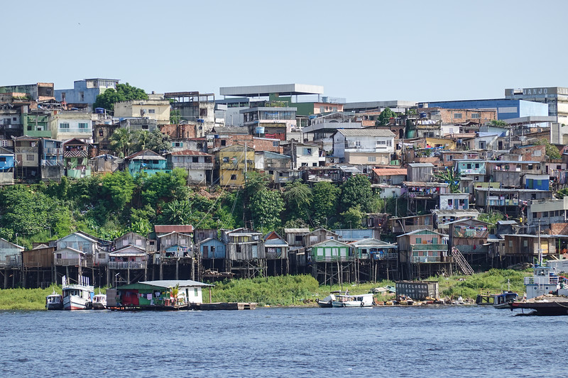 Life in Manaus, floating homes and houses built on stilts to survive the Amazon's floods.