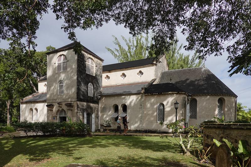 Saint James Parish Church, oldest church on Barbados, circa 1680's in original wood form.