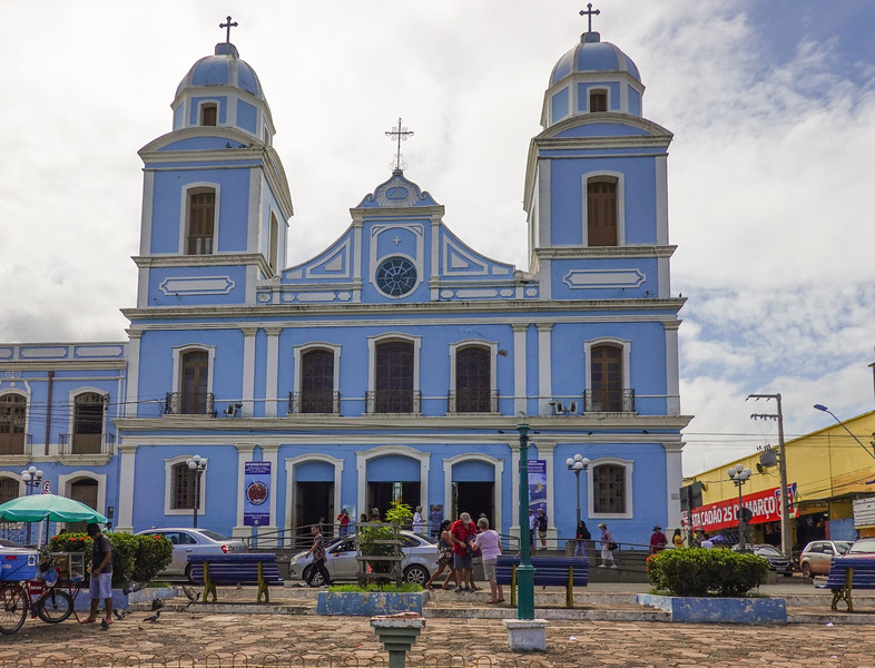 The Cathedral of Our Lady of Conception in Santarem, Brazil.