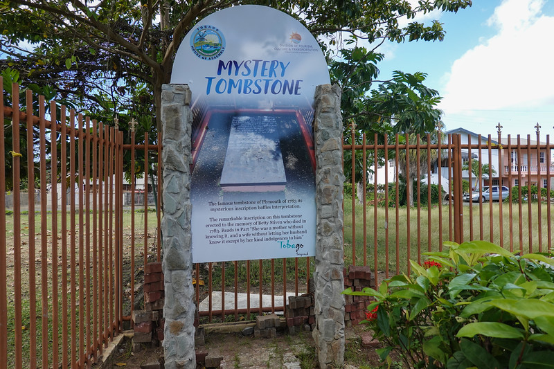 The mystery of the tomb of Betty Stiven, who died in 1783 in Plymouth, Tobago.