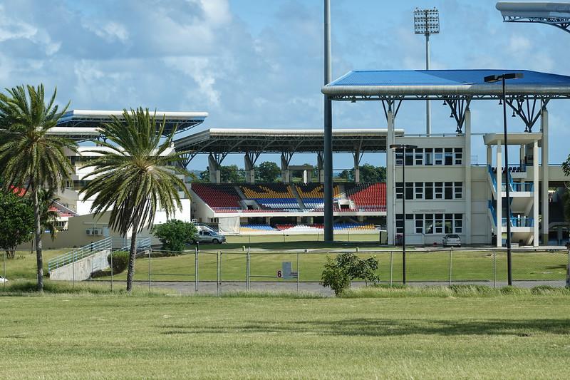 Beautiful new Soccer Stadium in St. John's, Antigua.