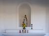 Religious figures Inside Castillo San Cristobal.