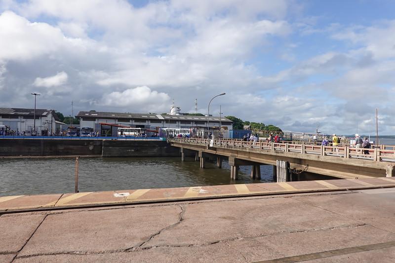 Docked and going ashore in Santarem, Brazil.