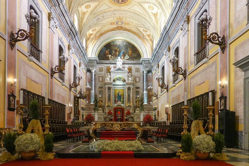 Inside the Cathedral of Se, Belen, Brazil.