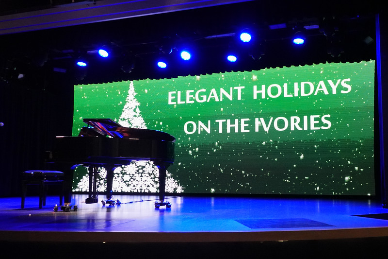 On stage for Christmas was Antal on the Grand Piano.