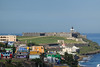 Closer view of Castillo San Filipe del Morro from Castillo San Cristobal in San Juan, PR.