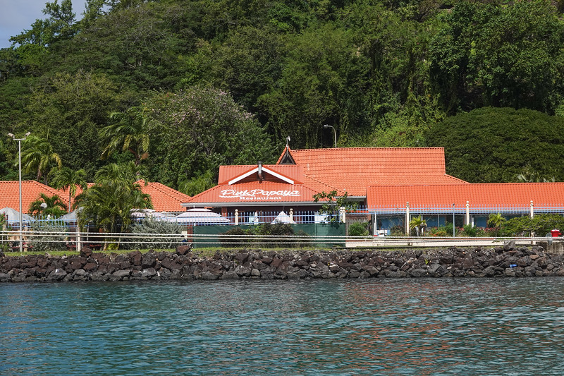 Pink Papaya Restaurant in the Castries, Saint Lucia harbor.