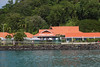 Pink Papaya Restaurant in the Castries, Saint Lucia harbor.