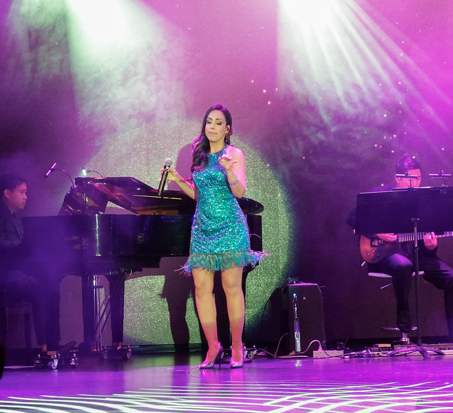 Wednesday evening's entertainment featured Brazilian Star Camila Andrade on the Viking Sea.
