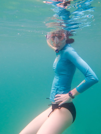 Showing off my baby bump under water...not so much.