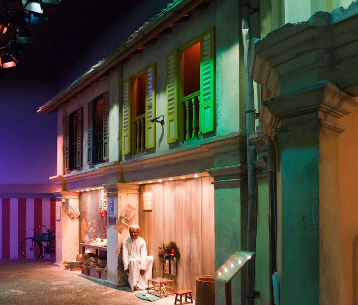 Historical street scenes on Sentosa Island
