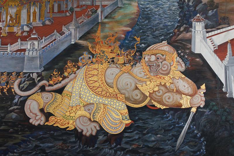 Wall Mural at the Grand Palace - Bangkok