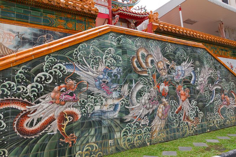 Wall outside the Ten Thousand Budda Temple