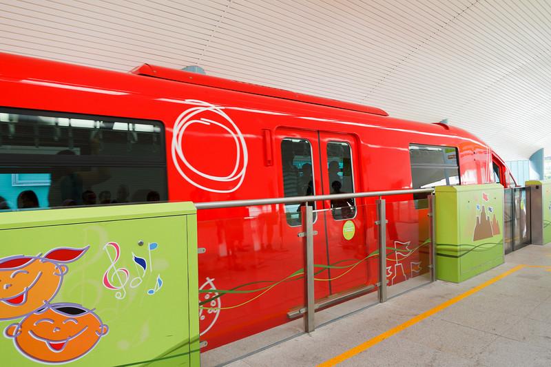 The train to Sentosa Island