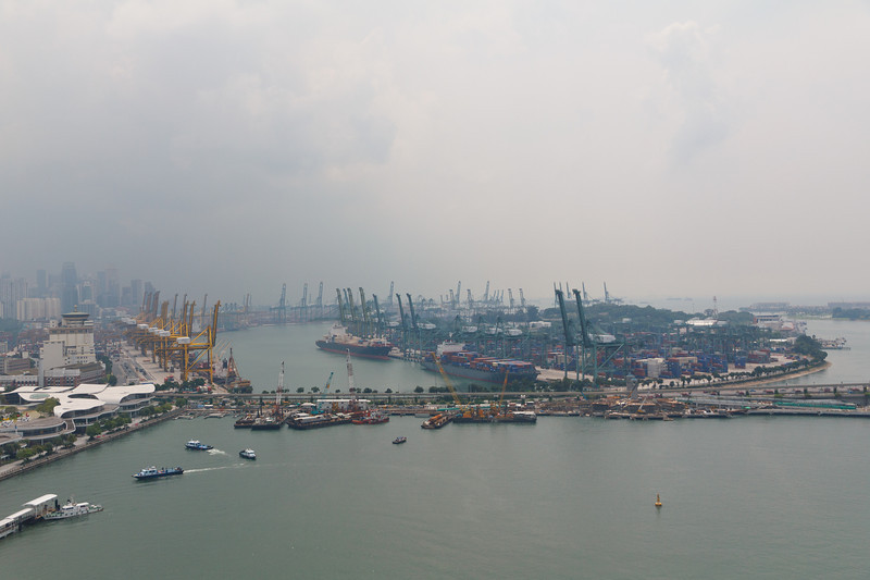 View of the Ports of Singapore from the Cable Car