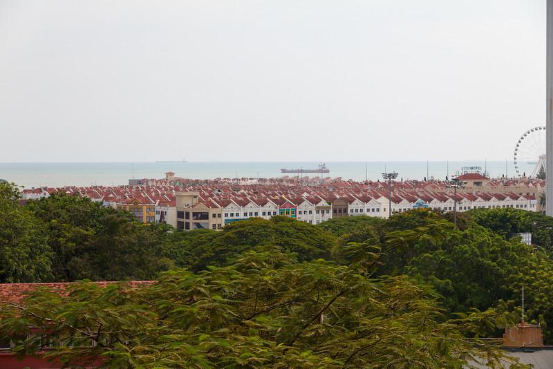 Malacca from St Pauls Church