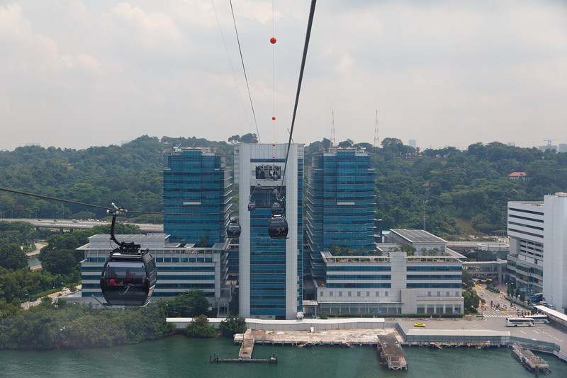 Arriving back in Singapore from Sentosa Island