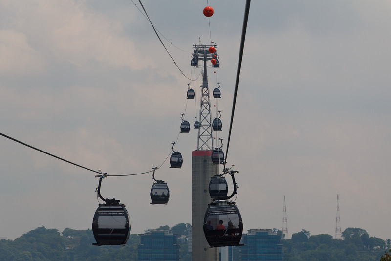 The Cable Car from Sentosa Island to Singapore