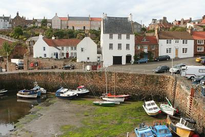 Small Fishing Village in Scotland