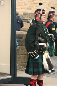 Guard in a kilt at Edinburgh Castle
