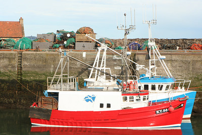 Fishing boats in Scotland