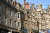 A cute street in Edinburgh heading up to the royal mile