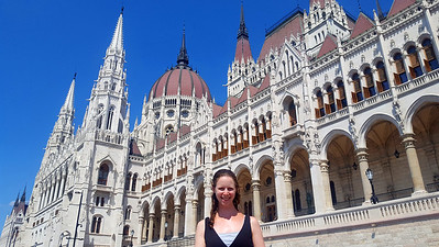 Emily in front of Parliament - Budapest, Hungary ... June 2, 2017 ... Photo by Rob Page III