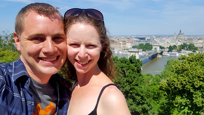 Rob and Emily selfie with St. Stephen's Basilica - Budapest, Hungary ... June 1, 2017 ... Photo by Rob Page III