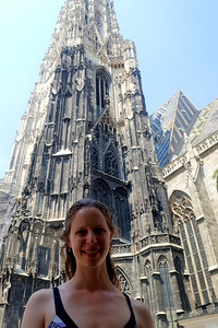 Emily in front of St. Stephen's Cathedral - Vienna, Austria ... June 3, 2017 ... Photo by Rob Page III