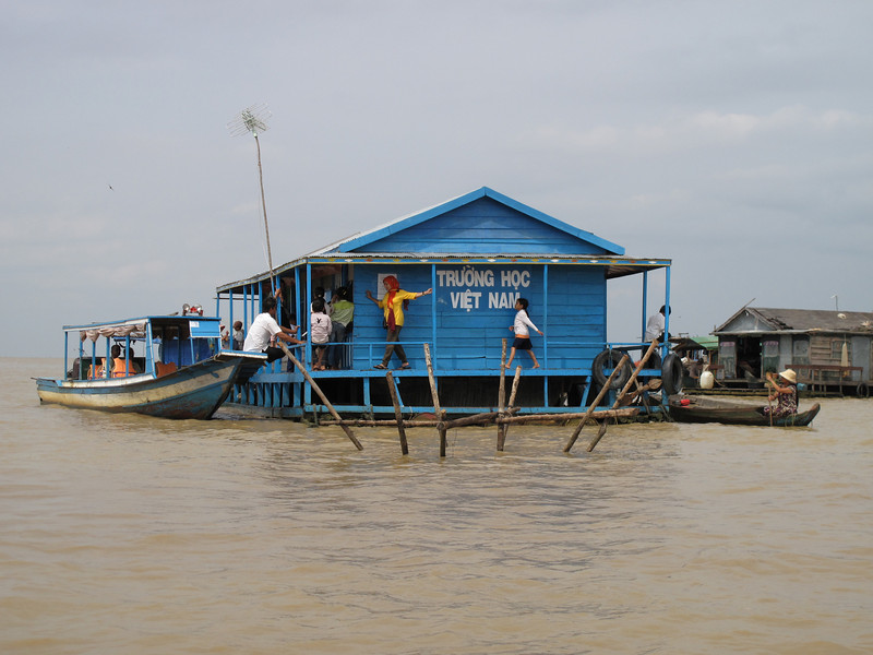 A School in the Tonle Sap Lake Floating Village - Cambodia