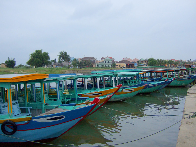 Tourist Boats in Hoi An Old Town