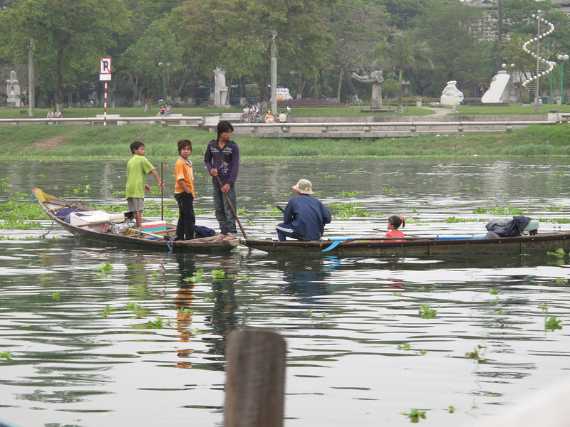 Life on the Perfume River in Hue - Vietnam