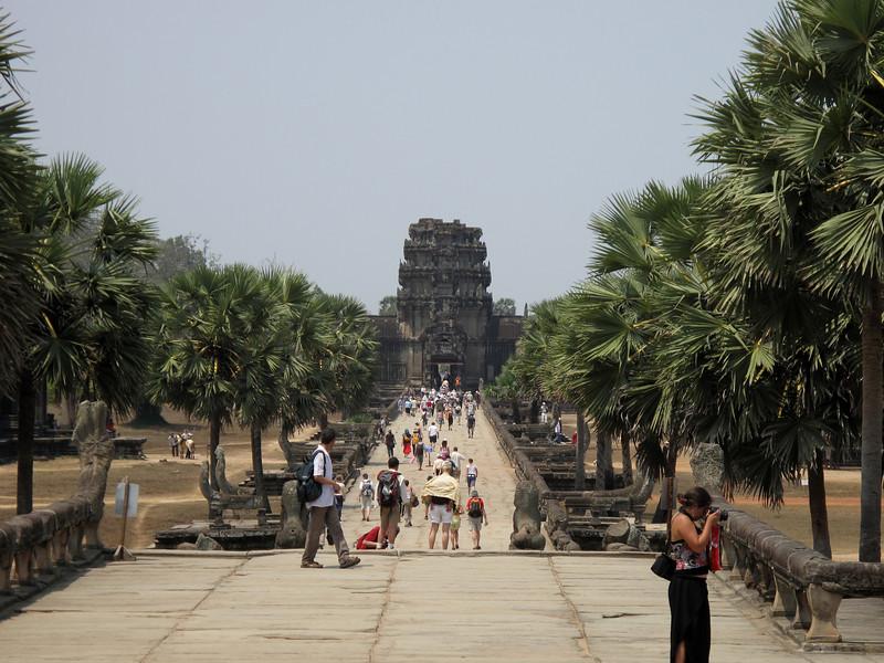 Walking out of Angkor Wat