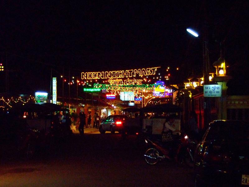 Night Market in Siam Reap Cambodia